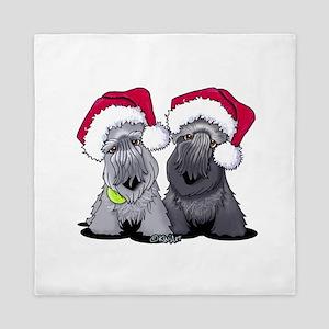 Christmas Cesky Terriers Queen Duvet