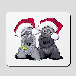 Christmas Cesky Terriers Mousepad