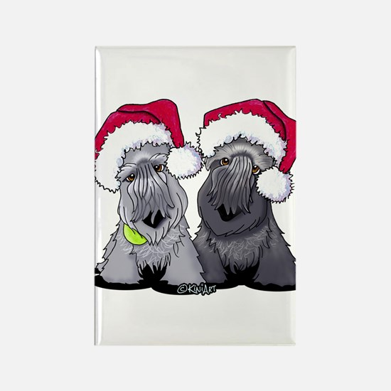 Christmas Cesky Terriers Rectangle Magnet