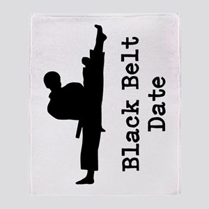 Black Belt Throw Blanket
