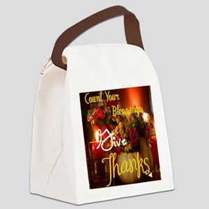 Count Your Blessings Canvas Lunch Bag