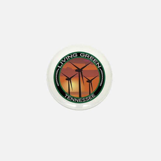 Living Green Tennessee Wind Power Mini Button