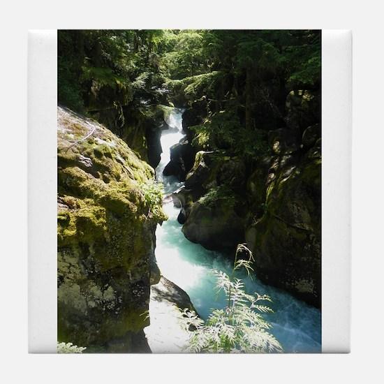 Glacier Waterfall Tile Coaster