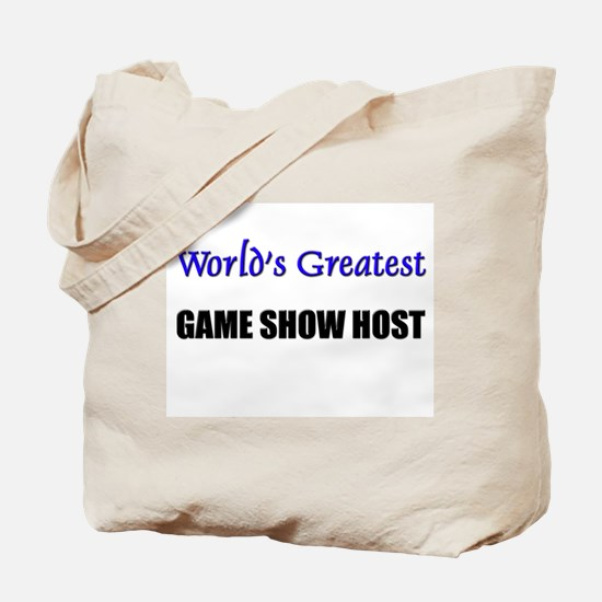 Worlds Greatest GAME SHOW HOST Tote Bag