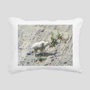 Mountain Goat Rectangular Canvas Pillow