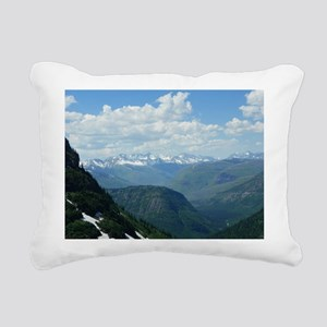 Glacier National Park Rectangular Canvas Pillow