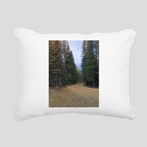 Fall Road Rectangular Canvas Pillow