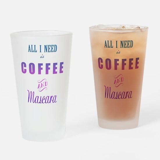 Coffee and Mascara Drinking Glass