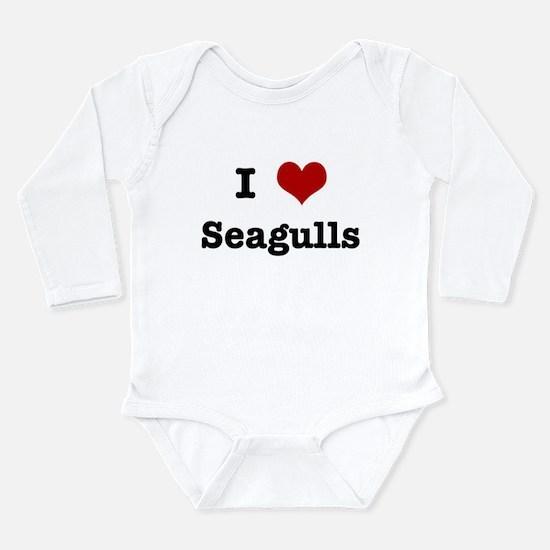 Cute Seagull Long Sleeve Infant Bodysuit