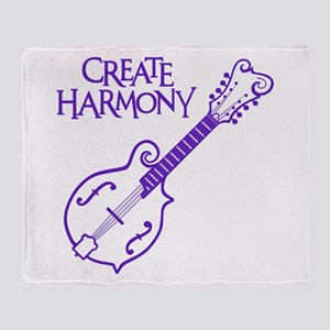 MANDOLIN HARMONY Throw Blanket