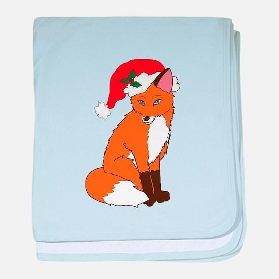 Foxy Santa baby blanket