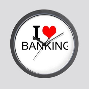 I Love Banking Wall Clock