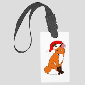 Foxy Santa Luggage Tag