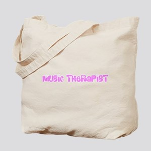 Music Therapist Pink Flower Design Tote Bag