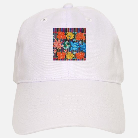 Mexican Flower Embroidery Cap
