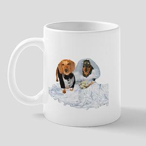 Wedding Dachshunds Dogs Mug