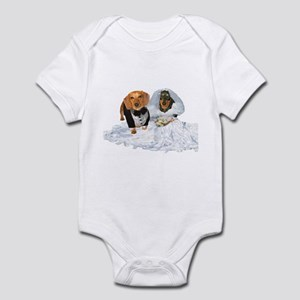 Wedding Dachshunds Dogs Infant Bodysuit