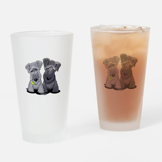 KiniArt Cesky Terriers Drinking Glass