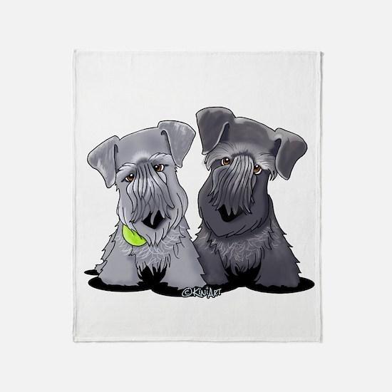 KiniArt Cesky Terriers Throw Blanket