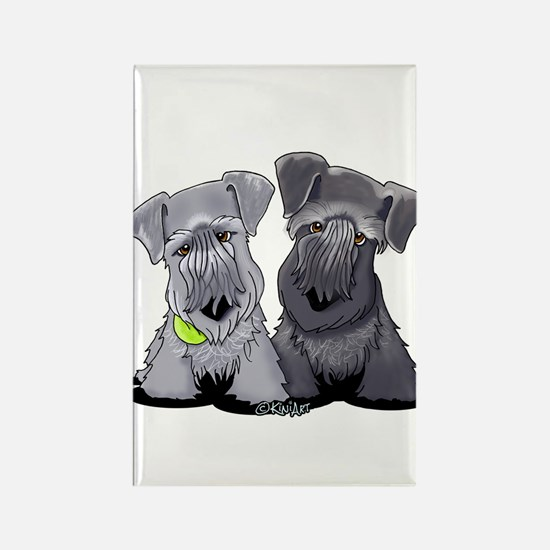 KiniArt Cesky Terriers Rectangle Magnet
