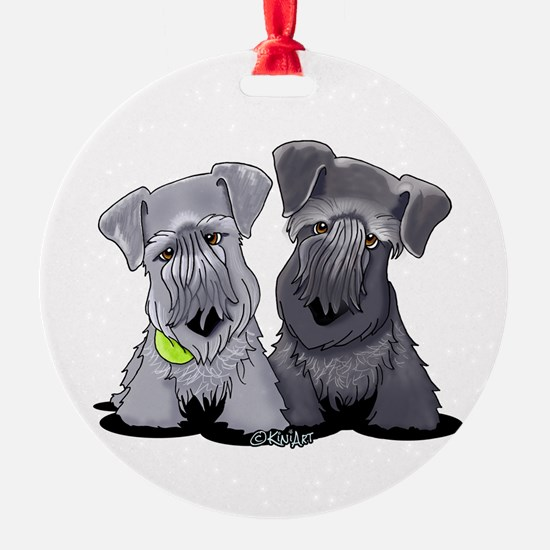 KiniArt Cesky Terriers Ornament