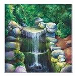 Lithia Waterfall Square Car Magnet 3