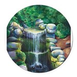 Lithia Waterfall Round Car Magnet