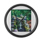 Lithia Waterfall Large Wall Clock