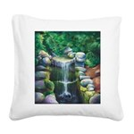Lithia Waterfall Square Canvas Pillow