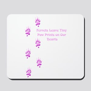 Tiny Paw Prints (Purple) Mousepad