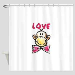 Love Monkey Shower Curtain