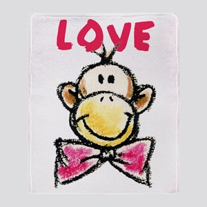 Love Monkey Throw Blanket