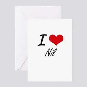 I Love Nil Greeting Cards
