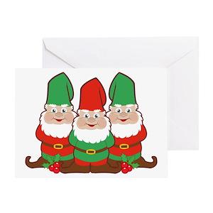 christmas gnomes greeting card - Christmas Gnome