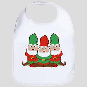 Christmas Gnomes Bib