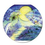 Dolphins Dance Round Car Magnet