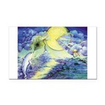 Dolphins Dance Rectangle Car Magnet