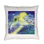 Dolphins Dance Everyday Pillow