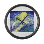 Dolphins Dance Large Wall Clock