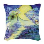 Dolphins Dance Woven Throw Pillow