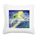 Dolphins Dance Square Canvas Pillow