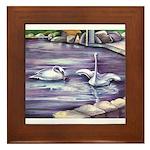 Swans Framed Tile