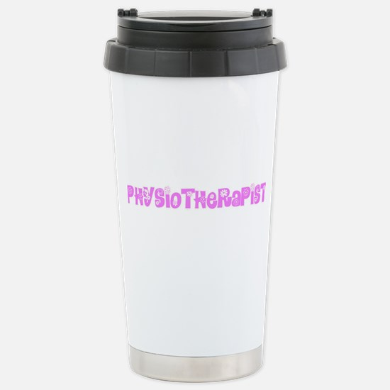 Physiotherapist Pink Flower Design Mugs