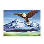 Eagle Above Mt Shasta Postcards (Package of 8)