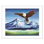 Eagle Above Mt Shasta Posters