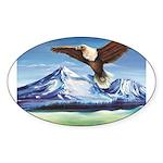 Eagle Above Mt Shasta Sticker