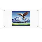 Eagle Above Mt Shasta Banner