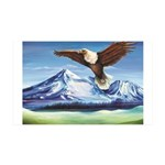 Eagle Above Mt Shasta Wall Decal