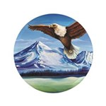 Eagle Above Mt Shasta 3.5
