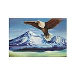 Eagle Above Mt Shasta Magnets